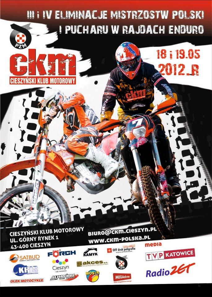 Mistrzostwa Polski w rajdach Enduro - Cieszyn 2012