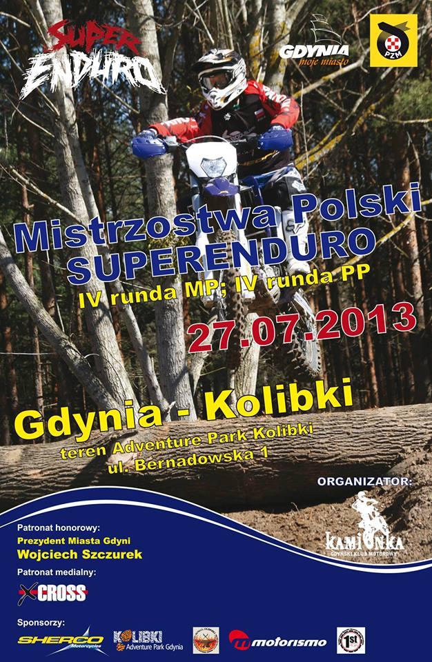 Mistrzostwa Polski Super Enduro Gdynia Kolibki 2013