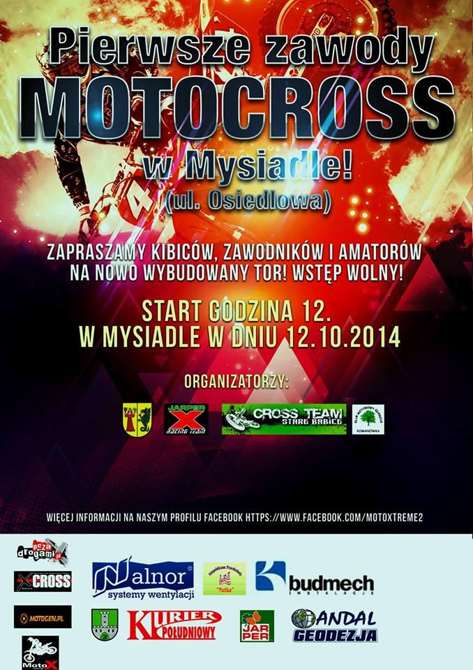 Zawody motocross w Mysiadle 2014